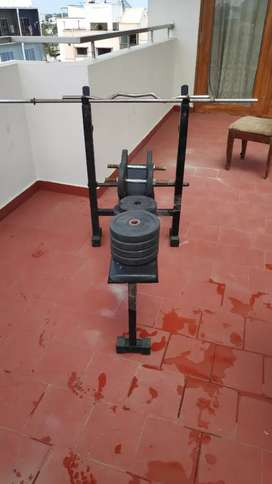 Home Gym set with weights