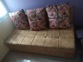 Wooden Sofa cum bed 1 month old