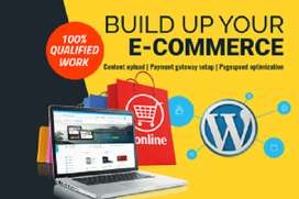 create a complete e commerce website for you