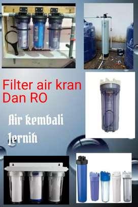 Filter air kran dan RO, atasi air berbau, berwarna dsb