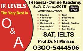 Home & online tuition As/A, IGCSE,O-Level GCE