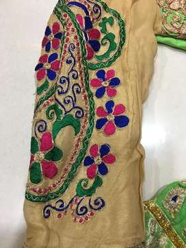 Boutique piece designer indowestern lehengha choli on sale