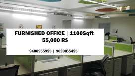 commercial space rent 55000 rs | 1100 Sqft