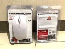 Mouse Slim Wireless Wifi Laptop PC Tanpa Kabel Putih White Tipis