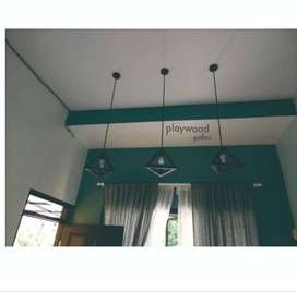 Lampu Gantung Limas Industrial Lighting Bahan Besi Interior Rumah Cafe