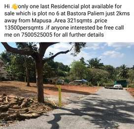 Only one last plot available for sale at Bastora paliem
