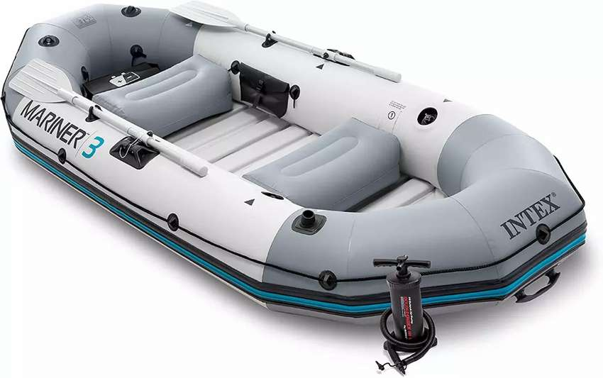 Intex Mariner 3 3 Person Inflatable Boat Set with Aluminum Oars