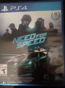 Gaming PS4 need for speed disc
