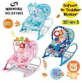 Spacebaby Rocker bisa bayi baru lahir sampai usia 3thn ada music 400rb