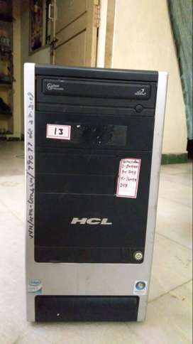HCL Core 2Duo 2.80 Ghz  Hard Disk 160 GB  Ram 2 GB   DVD Writer  19 in