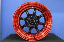 model velg celong-SC-03 HSR R16X8/9 H8X100-114,3 ET30/25 BK/RED