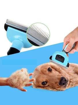 Pet Deshedding Tool For Dogs And Cats - Blue (Large) - PS317
