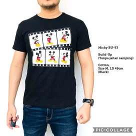Kaos Pria Build-up Micky BU93