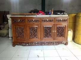 Meja rak bufet tv size:P:200xL:45xT:75cm kayu jati.