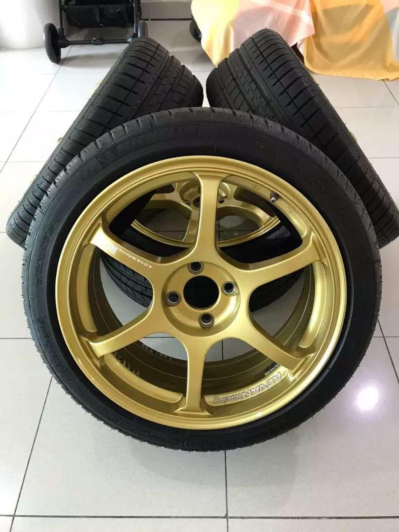 Velg Advan Racing RG II Ring 17 Original Made In Japan Beserta Ban 0