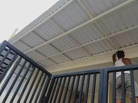 jasa pasang kanopi rooftop, kanopi galvalum dan kanopi aneka bahan