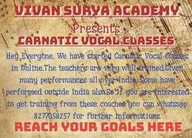 Carnatic Vocal Classes-Online