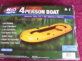 "HEAVY DUTY 2-PERSON BOAT INFLATABLE BOAT with pump and oars"" 4 oars"