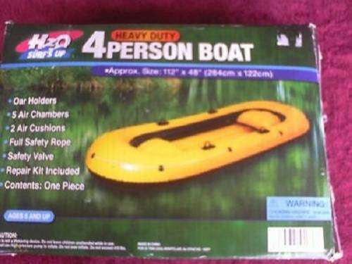 "HEAVY DUTY 2-PERSON BOAT INFLATABLE BOAT with pump and oars"" 4 oars 0"