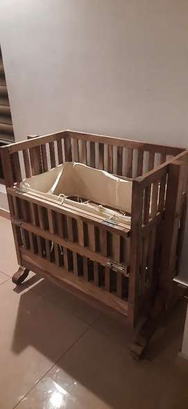 Custom made solid wood baby cradle for sale