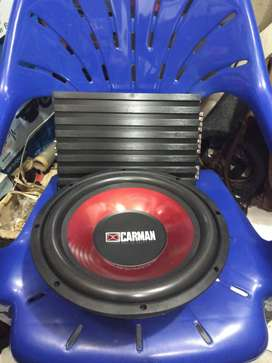 Plus Pasang Power DHD 4chenel and Subwoofer CARMAN 12 inch