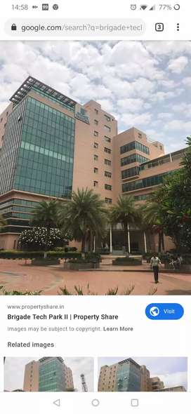 Tenenated office space for sale in Brigade Tech Park, Whitefield