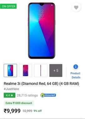 Sealed pack REALME 3i 4gb at Rs 9799 n Vivo z1 pro Rs 14500