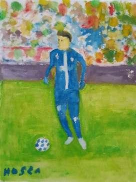 lukisan pemain bola