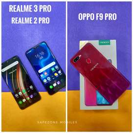 Realme 2 pro Realme 3 pro and oppo F9 for sale today only