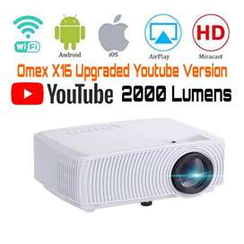 2000LM UPGREAD YOUTUBE VERSION HD WIFI PROJECTOR SCHOOL HOTEL HOME GYM