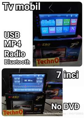 Tv mobil 7 in usb free kamera mundur 4 led doubledin tape grosir murah