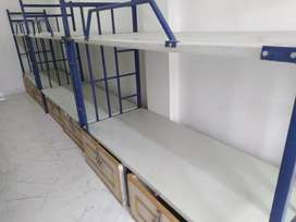 Dormitory bed or double bed for lodging