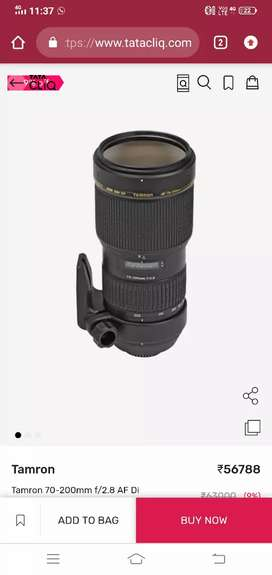 Sell my tamron 70-200mm 2.8 lens