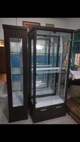 Mjb mebel- lemari kristal 2 pintu hpl