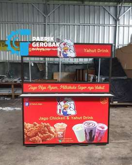Booth portable besi kuat anti air