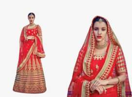 Party wear designer embroidered net with silk material lehenga choli