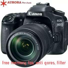 Canon EOS 80d kit 18-55mm full set bonus