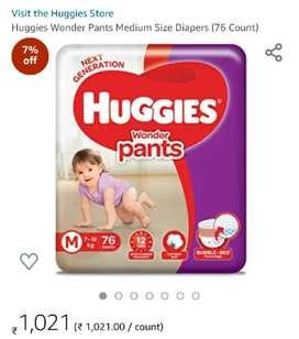Diaper Huggies Size M 7-12kg