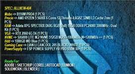 PC RAKITAN GAMING RYZEN 5 5600X | 16GB RAM | RTX 2060 | NVME 512GB