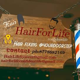 Hair System fixing service@yourdoorstep