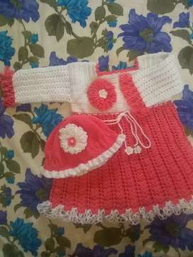 Baby Crochet Frok for 18 months baby