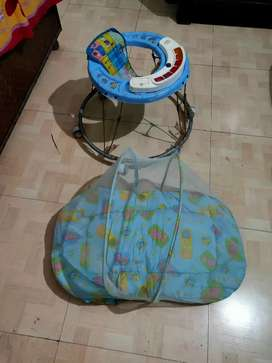 Walker and baby sleeper for sale