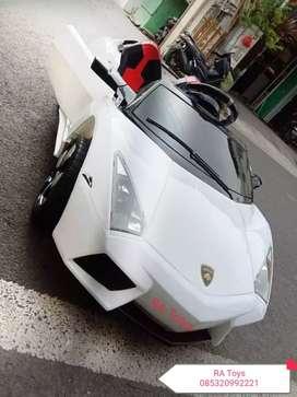 Mobil aki cas anak model Lamborghini