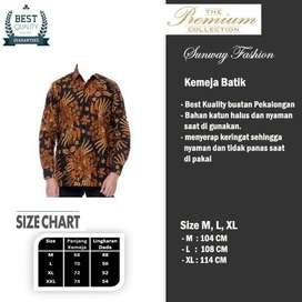 AM0072 Harga Promo COD Baju Kemeja Batik cowok Pria Kualitas terjamin
