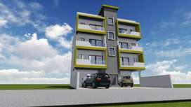 2 bhk flats for sale in Banjarawala, 30 ft front road, covered Parking