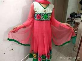 Anarkali havy work Dress with dupatta