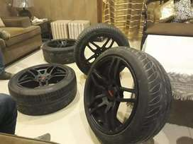 17 inch Lenso original Thailand made rims with tyres