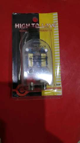 Adaptor RCA out hi low converter buat tape head unit standar mobil