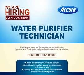 HIRING WATER PURIFIER TECHNICIAN