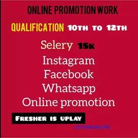 Online promotion work
